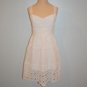 All Saints White Eyelet Sleeveless Dress